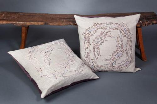 Juliarose Triebes Pillows & Indonesian Bench from Gado Gado