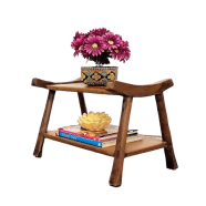 Wabi-Sabi Rustic Accent Table Small Bench