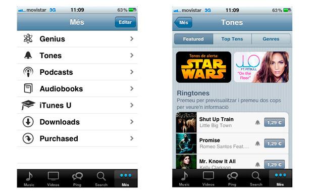 Tienda tonos iPhone Apple