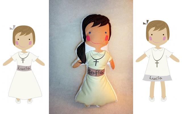 Niña con muñeca personalizada de Very Important Kids