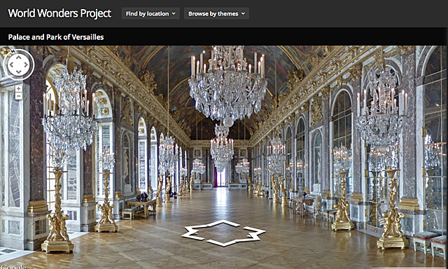 Palacio de Versalles, Google World Wonders Project