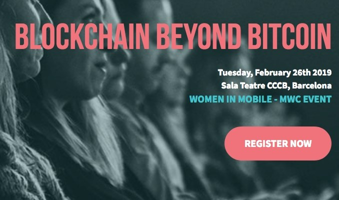 Woman in Mobile Blockchain