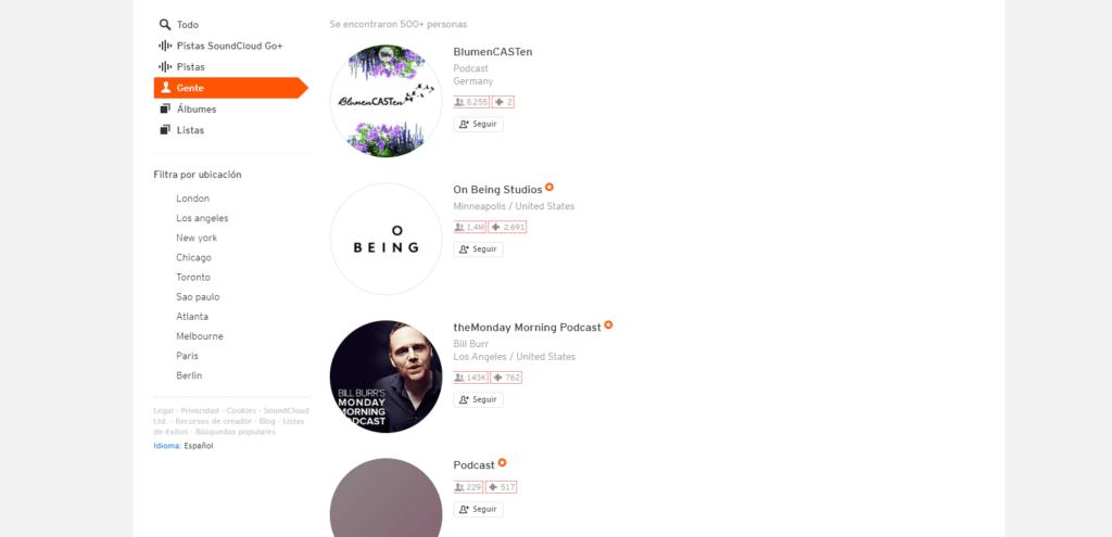 Podcasts en SoundCloud