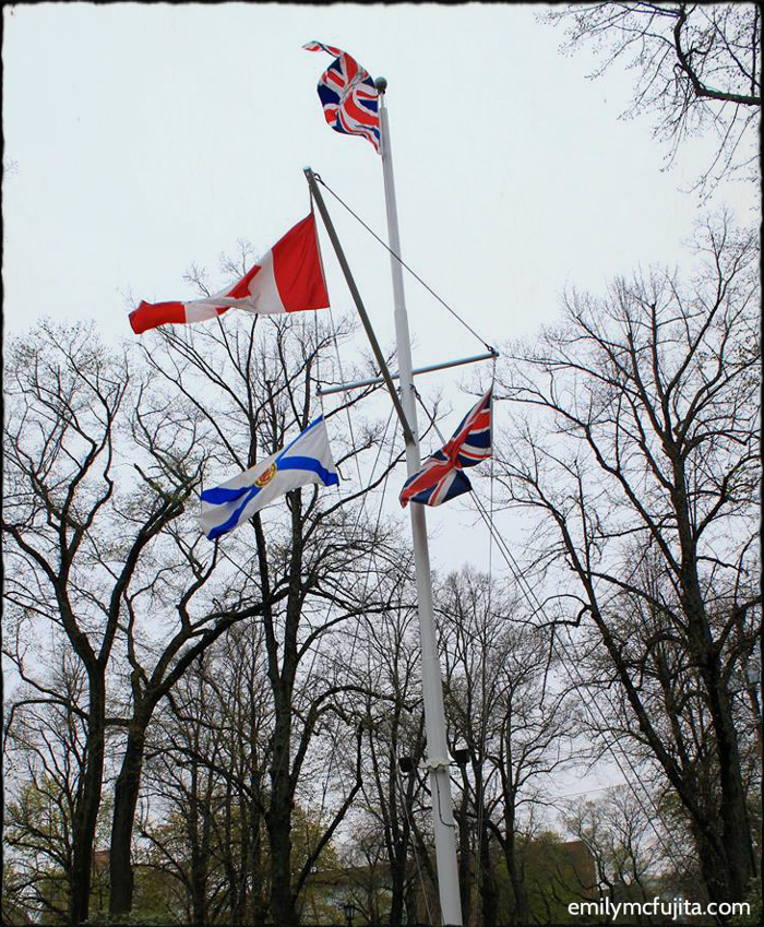 Flags at Government House, Halifax