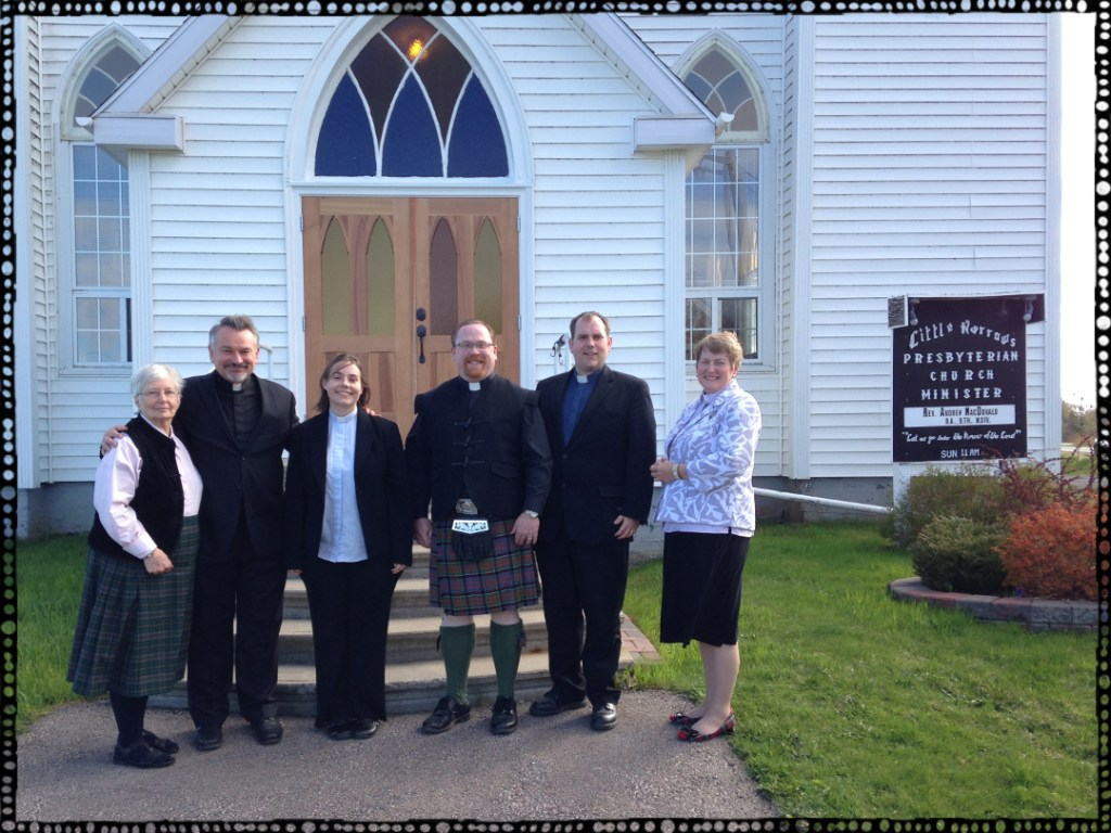 Ministers at the Gaelic ecumenical service
