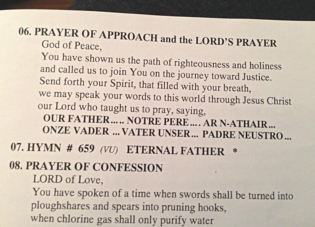 Port Wallis United Church bulletin