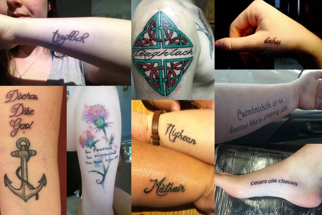 Accurate Scottish Gaelic tattoos
