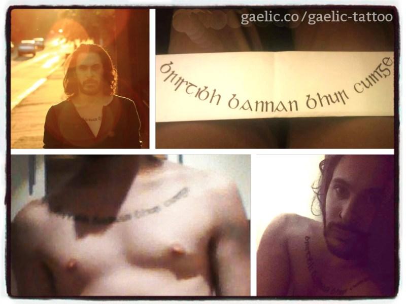 """""""Bristibh bannan bhur cuinge"""" - a literary Gaelic tattoo"""