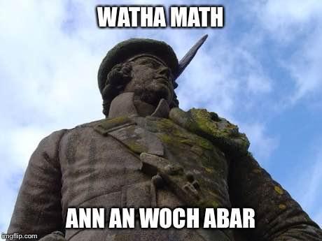 Lochaber Gaelic - Watha math ann an Woch Abar