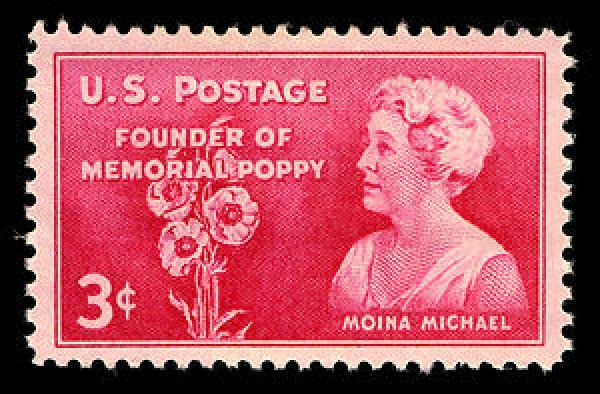 Moina Michael postage stamp