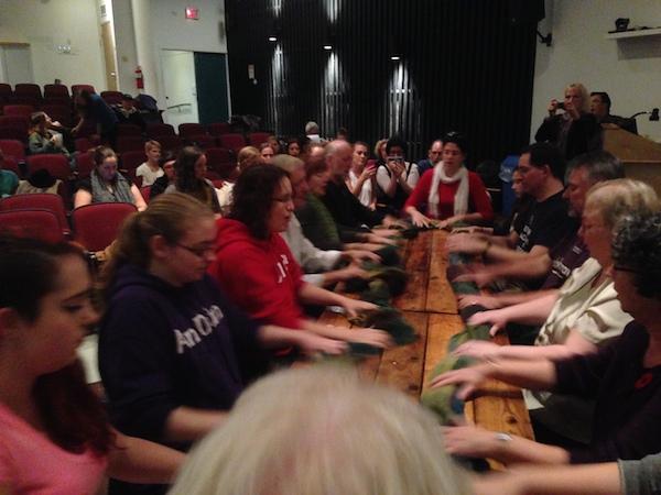 Gaelic Milling frolic in NSCAD auditorium