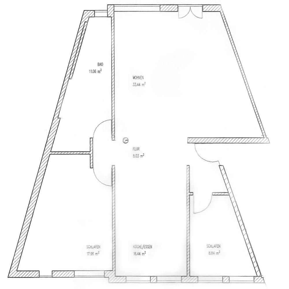 Gästehaus Im Unnerdorf Plan Ferienwohnung 1