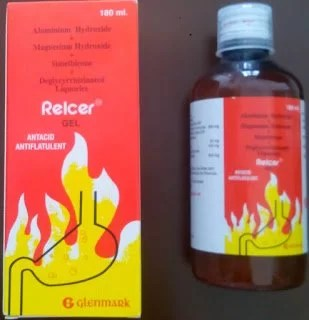 Relcer® gel can be given with benefit in conditions of hyperacidity, gastritis, flatulence, dyspepsia