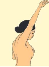 Breast Self-Examination (BSE) step 3
