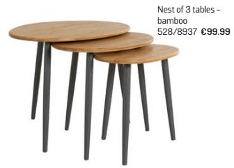 nest of 3 tables argos
