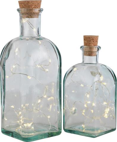 glass bottles with lights Argos