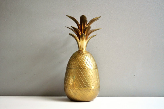 A brass pineapple from Etsy