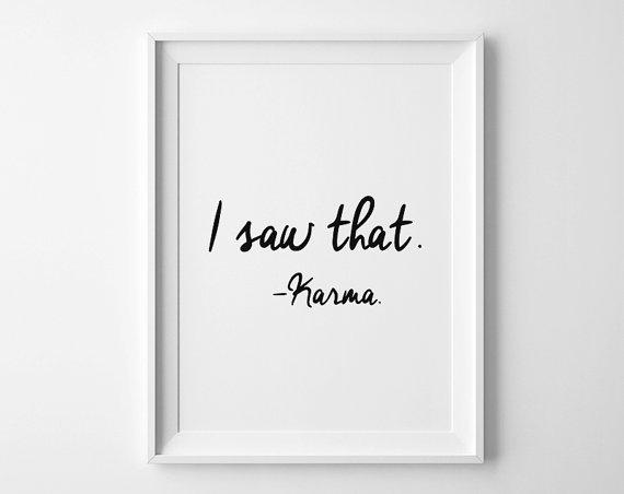 karma wall print