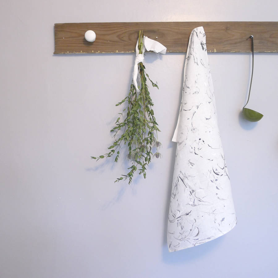 Marble Linen Tea Towel by SAMI COUPER €11.79 Not On The High Street