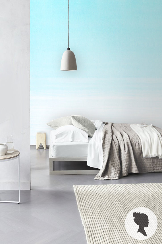 Ombre stick on wall paper