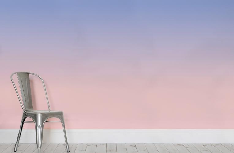 Pantone's Rose Quartz & Serenity Ombre Wall