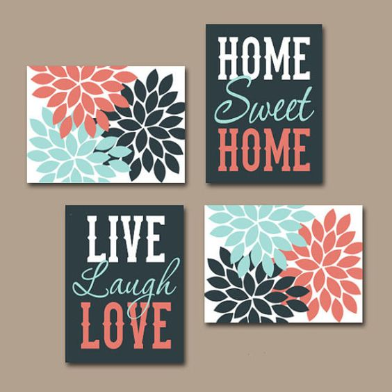 live laugh love wall home sweet home wall print
