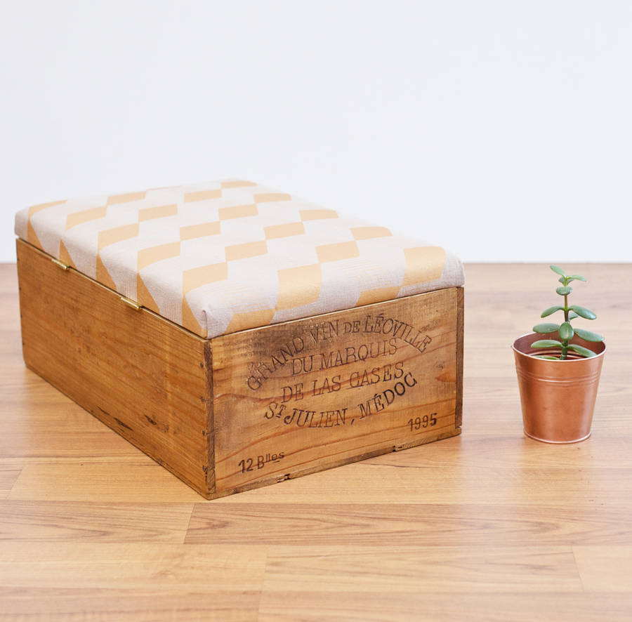Upcycled Wine Crate Ottoman Notonthehighstreet.com €159.98