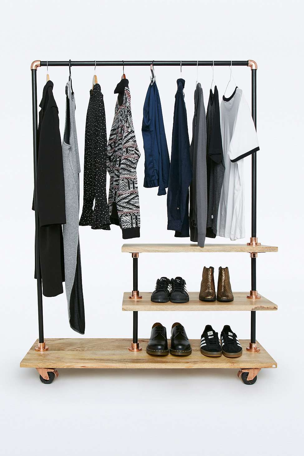 Urban outfitters clothing rack bedroom space