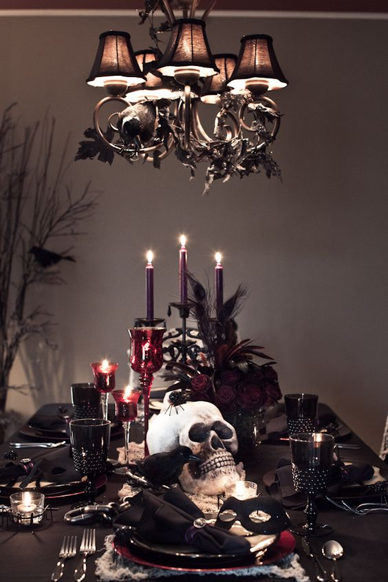 Glamoween Table Stlye Inspo dining table tableware todd davidson photo