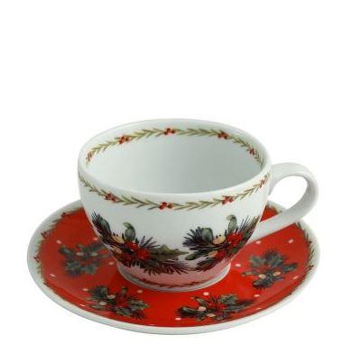 Christmas ware arnotts teacup and saucer