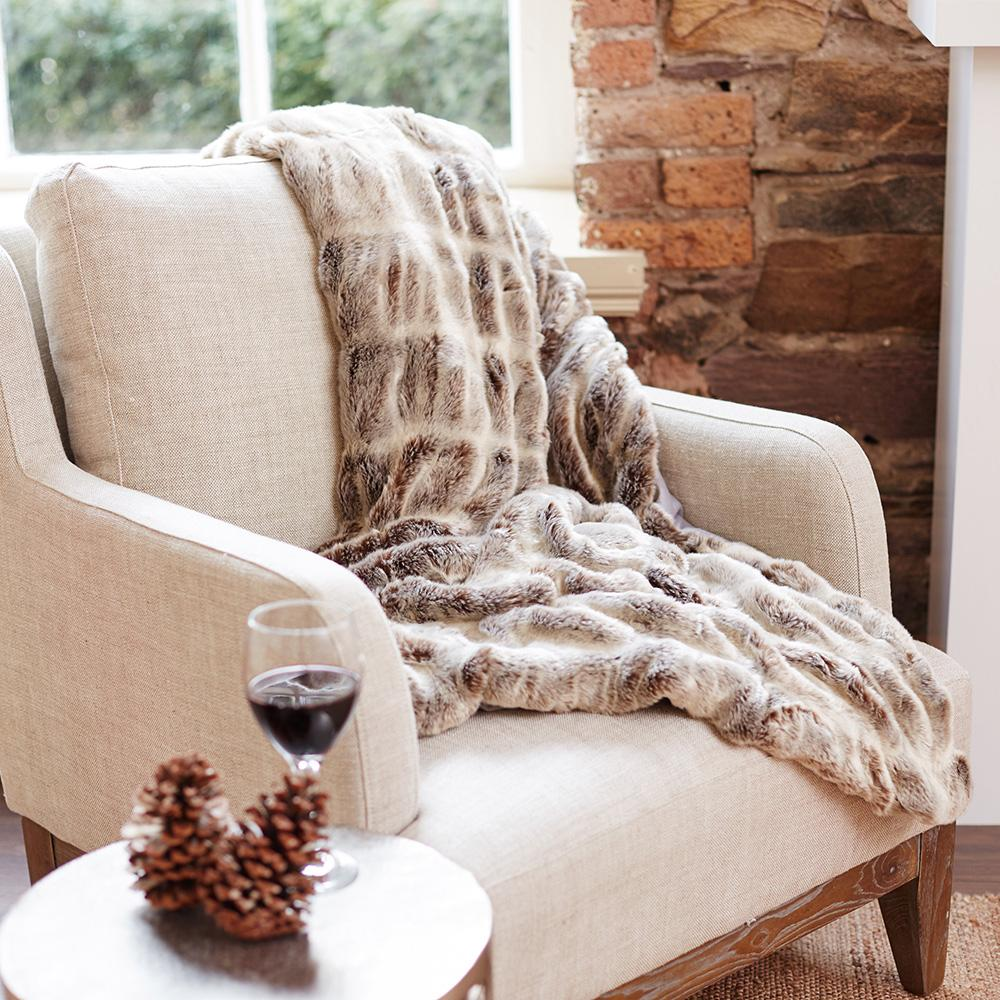 faux fur throw meadows and byrne
