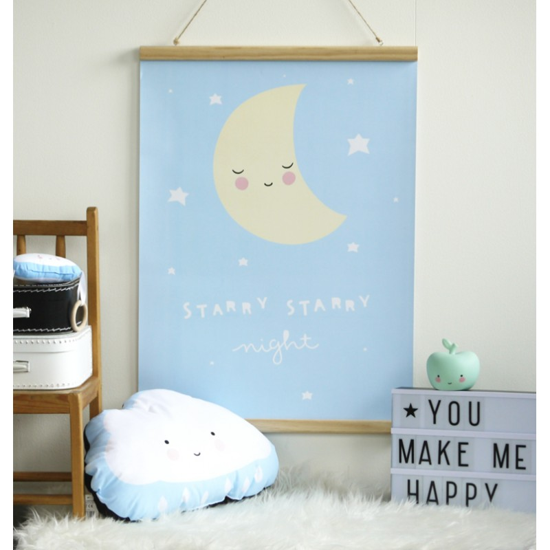 mopsy and lils childrens room poster moon