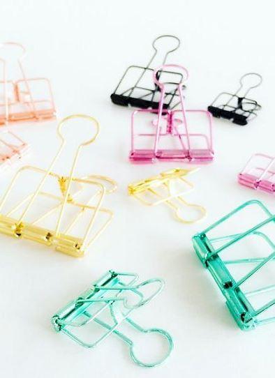 moss paper clips