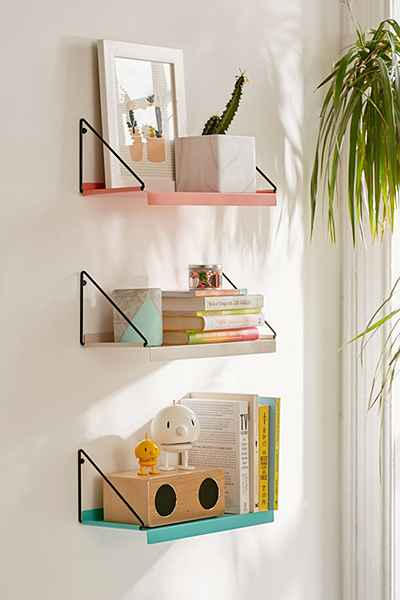 urban outfitters wall shelf home office