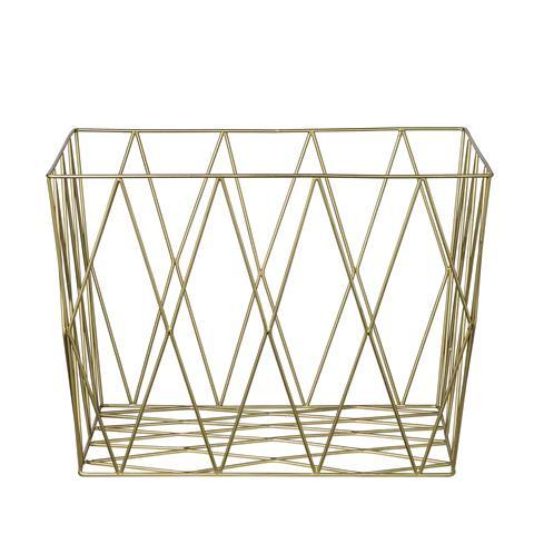 idecorate brass basket storage