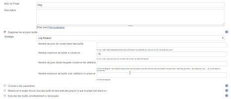 options projet Jenkins