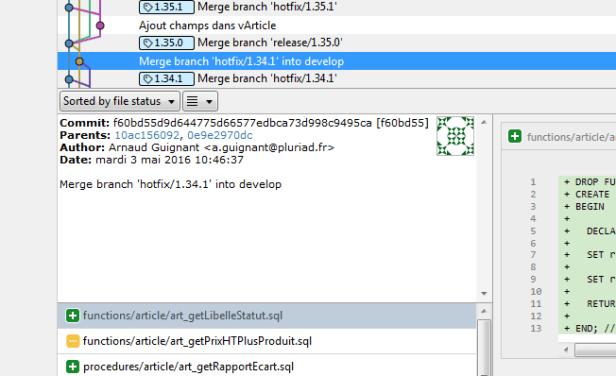 Version fichiers SQL avec Git et SourceTree