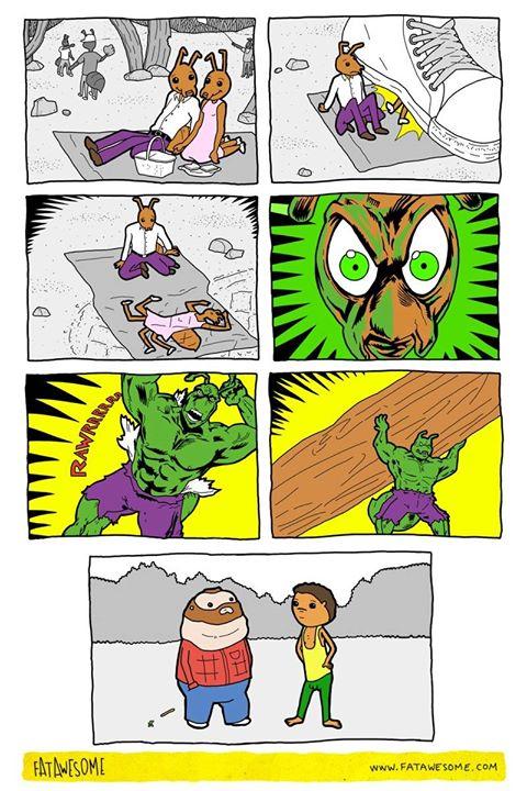 La triste historia de dos hormigas.  Artista: Fata