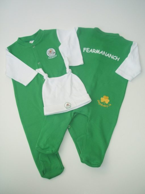 GagaBaby Fermanagh GAA Babygro and Hat Set