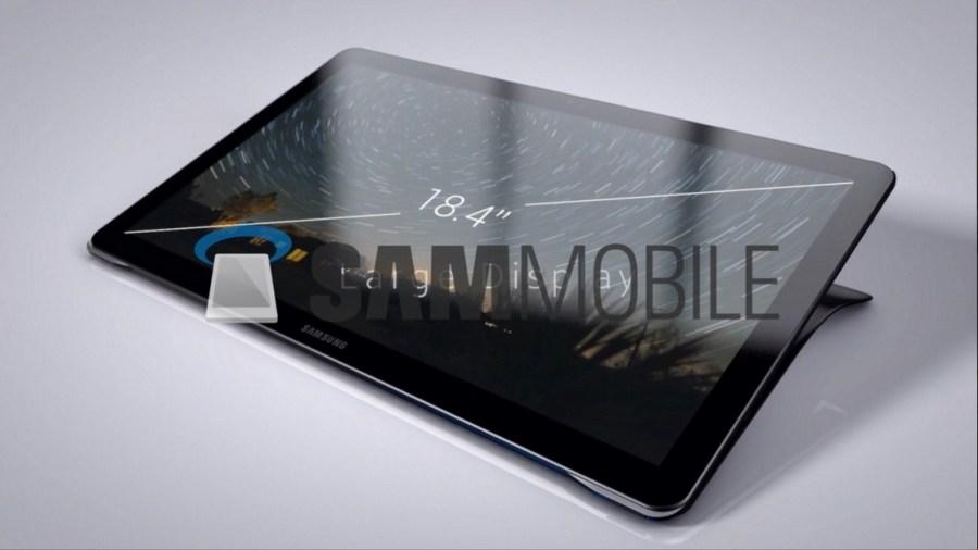 Утечка: изображения 18,4-дюймового планшета Samsung