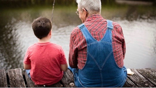 Grandpa-and-grandson-fishing