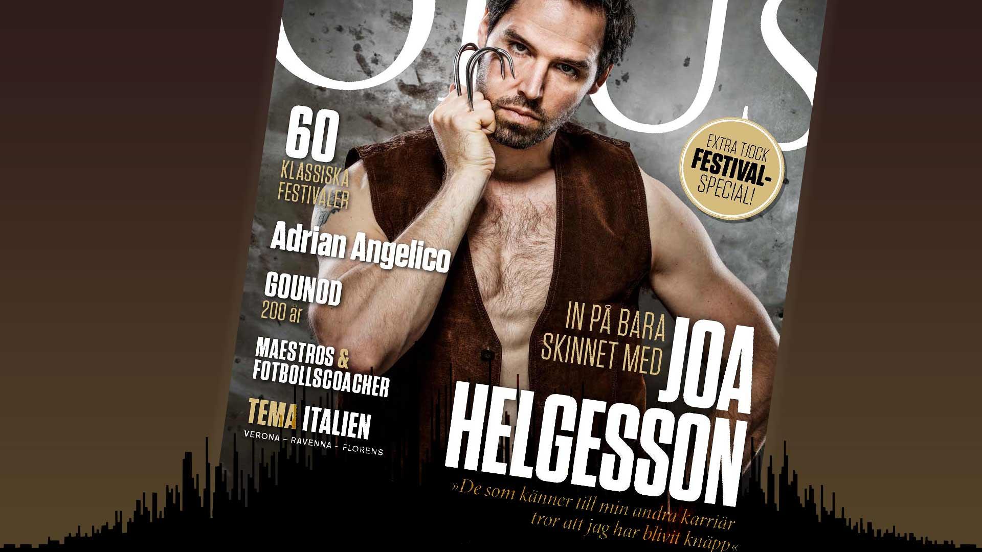Omslag nr 82 av musikmagasinet Opus: Joa Helgesson