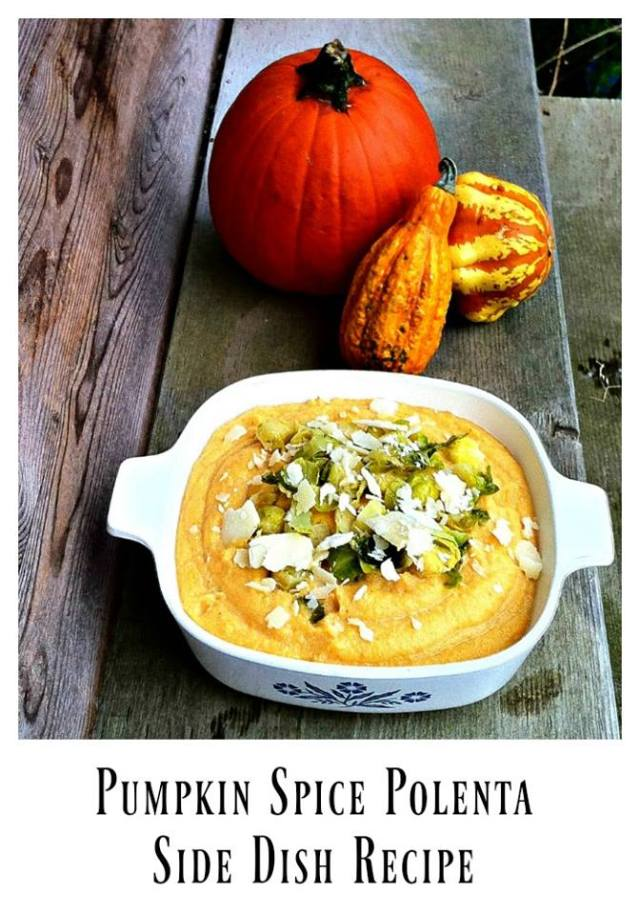 This delicious Pumpkin Spice Polenta is part of the #12DaysOf Thanksgiving at GagenGirls.com