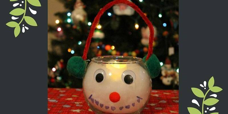 Easy Snowman Candle Holder, a great DIY part of the #12DaysOf Christmas