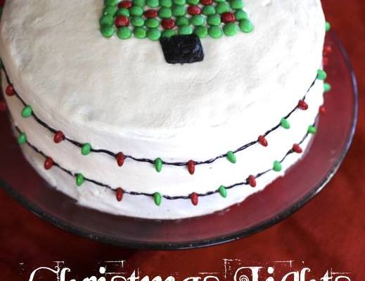 Christmas Lights Cake, a gorgeous and delicious part of the #12DaysOf Christmas!