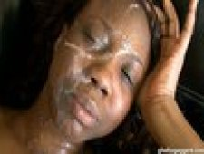 Ghetto Gaggers Ebony Marie Cock Gagging Black Slut Cum Facial Video