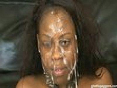 Ghetto Gaggers Latrice Cock Gagging Black Slut Cum Facial Video