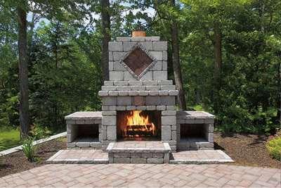 Farmhouse Wall Fireplace