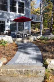 Colonial Cobble Granite Hill Blend w/ Hollandstone Charcoal Border