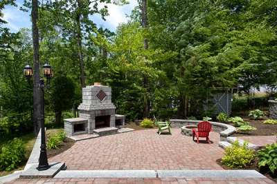 Colonial Cobble Old Port Blend, Farmhouse Wall Granite Hill Blend